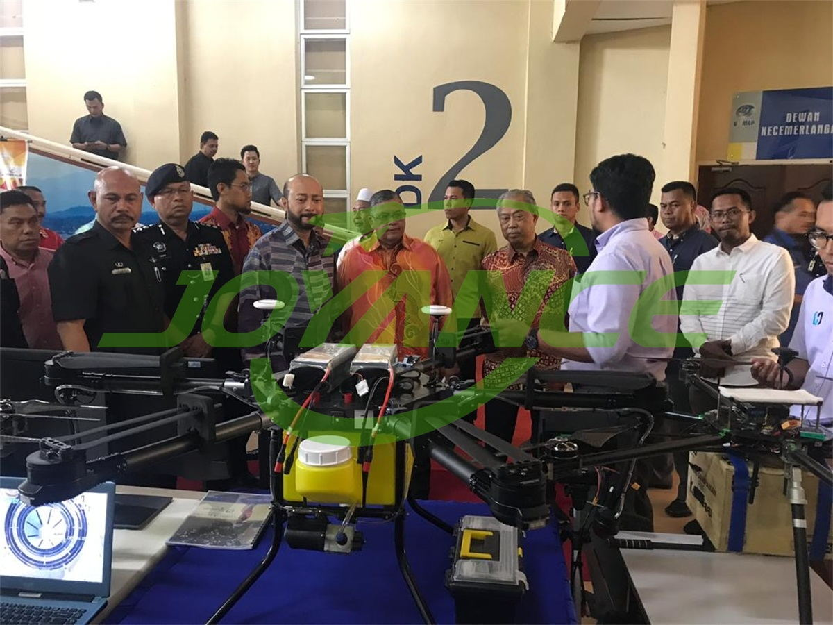 Joyance sprayer drone at drone exhibition